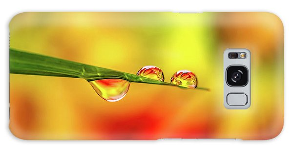 Galaxy Case - Flower In Water Droplet by Adrian Evans