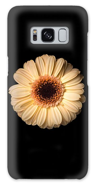 Galaxy Case featuring the photograph Flower Over Black by Mirko Chessari