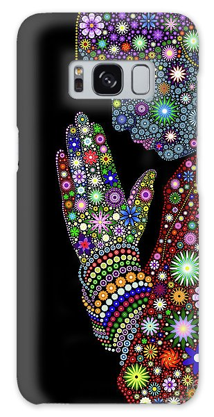 Spirituality Galaxy Case - Flower Prayer Girl by Tim Gainey