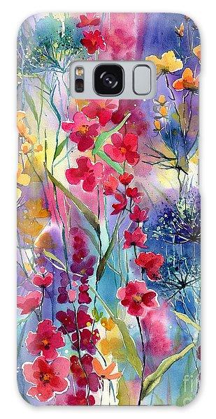 Hummingbird Galaxy S8 Case - Flowers Fairy Tale by Suzann's Art