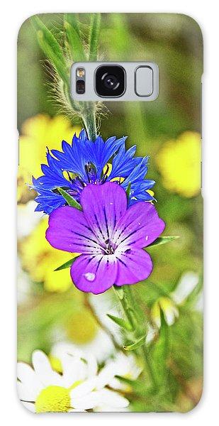 Flowers In The Meadow. Galaxy Case