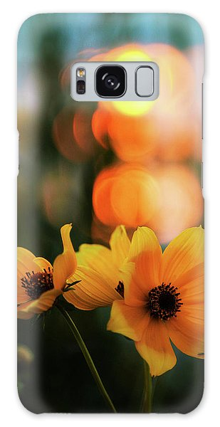 Flowery Bokeh Sunset Galaxy Case