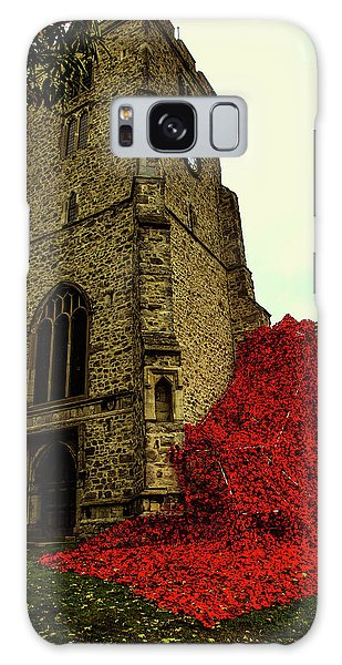 Flowing Poppies Galaxy Case