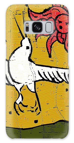Flying Bird And Red Sun Face Galaxy Case