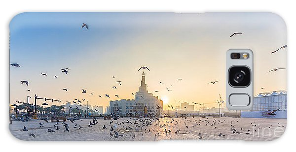 Cultural Center Galaxy Case - Flying Doves Over Fanar, Qatar Islamic by Ahmed Adly