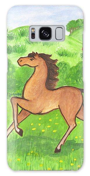 Foal In The Meadow Galaxy Case