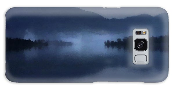 Fog On The Dark Mountain Lake Galaxy Case