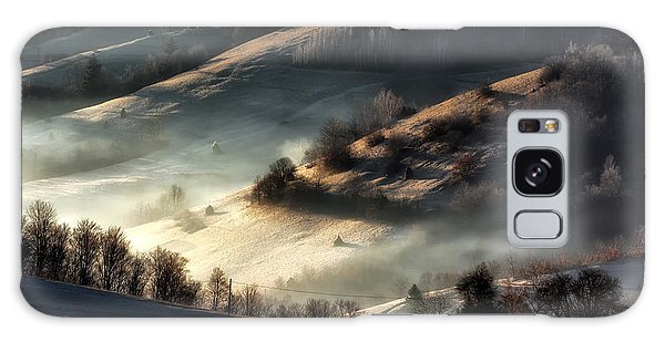 Dawn Galaxy Case - Foggy And Sunny Day Of A Autumn, On by Hurghea Constantin