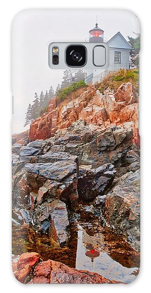 Foggy Bass Harbor Lighthouse Galaxy Case