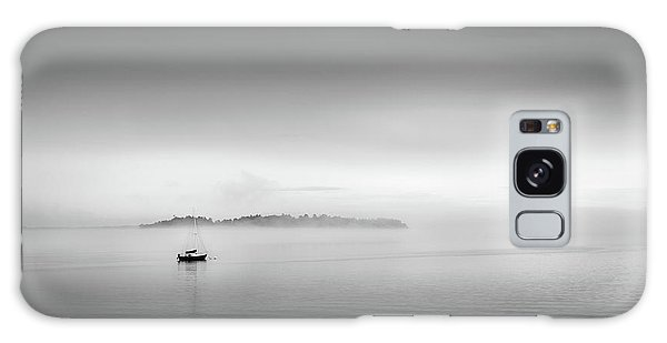 Foggy Morning On Casco Bay Galaxy Case