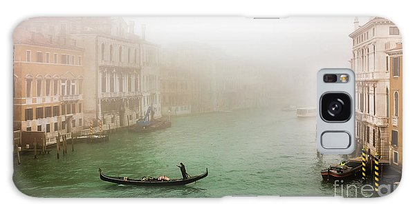 Foggy Morning On The Grand Canale, Venezia, Italy Galaxy Case