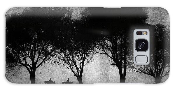Foggy Morning Ride Galaxy Case