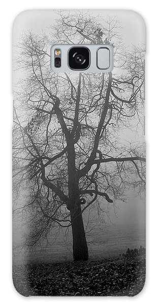 Foggy Tree In Black And White Galaxy Case