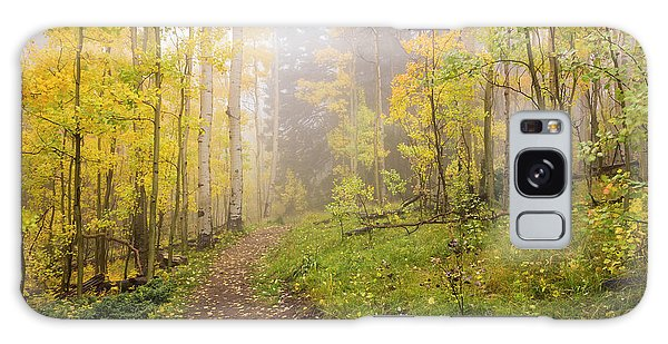 New Leaf Galaxy Case - Foggy Winsor Trail Aspens In Autumn 2 - Santa Fe National Forest New Mexico by Brian Harig