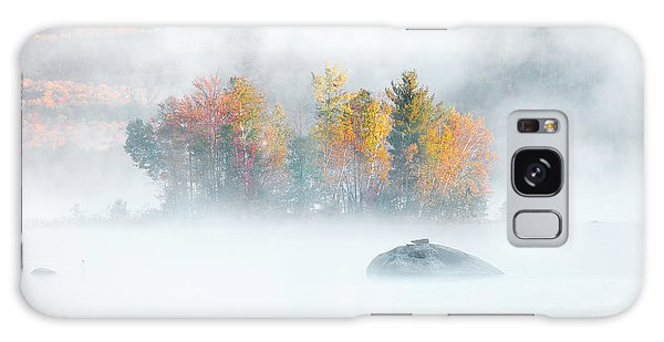 Galaxy Case featuring the photograph Foliage Burst At Leffert's Pond Vermont by Expressive Landscapes Fine Art Photography by Thom