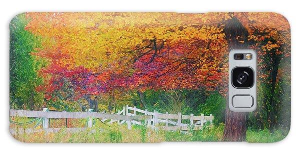 Foliage By The Farm Galaxy Case