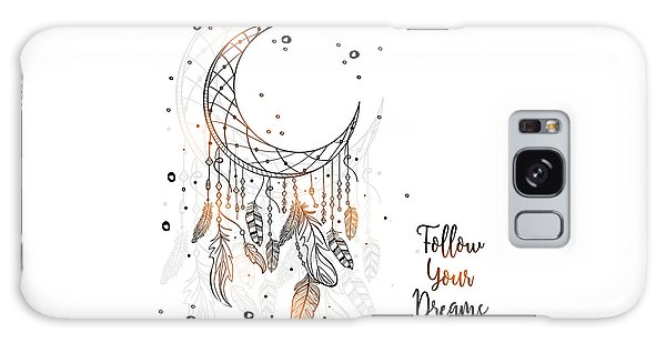 Follow Your Dreamcatcher - Boho Chic Ethnic Nursery Art Poster Print Galaxy Case