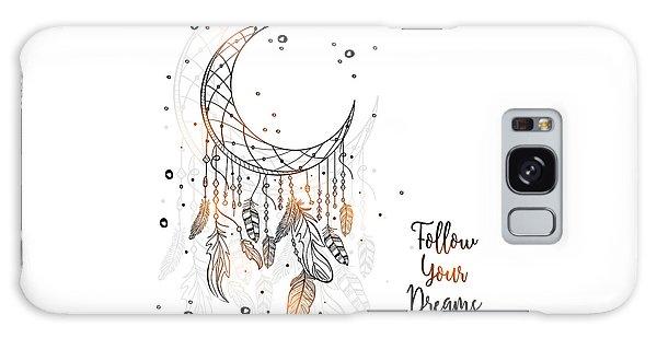 Follow Your Dreamcatcher - Boho Chic Ethnic Nursery Art Poster Print Galaxy Case