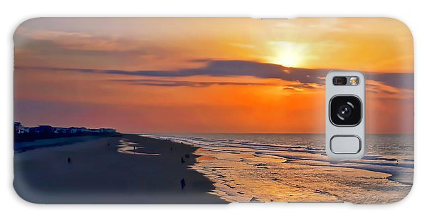 Folly Beach Sunrise Galaxy Case