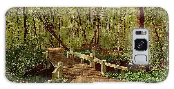 Footbridge Through The Woods Galaxy Case
