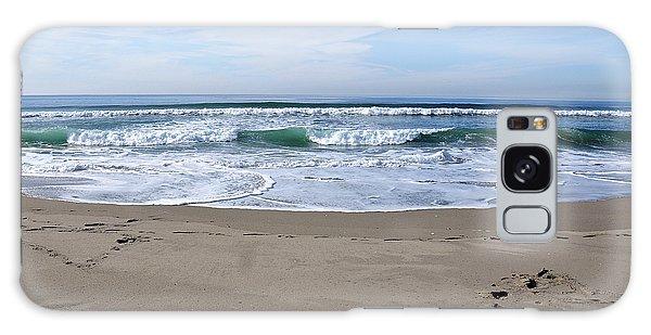 Footprints By The Sea Galaxy Case