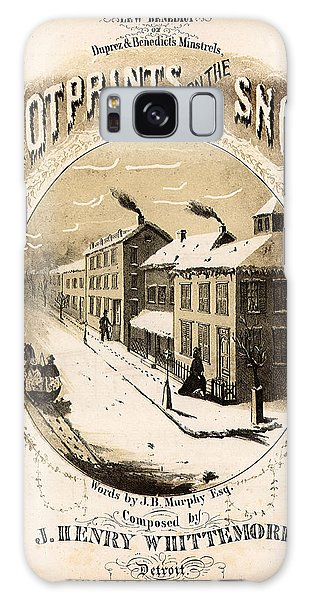 Galaxy Case - Footprints On The Snow, 1866 Music Sheet Cover Page by Zal Latzkovich
