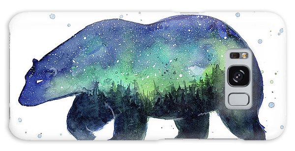 Galaxy Galaxy Case - Forest Bear Galaxy by Olga Shvartsur