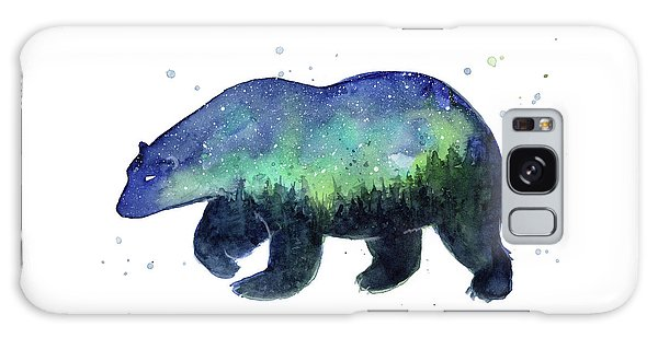 Outer Space Galaxy Case - Forest Bear Galaxy by Olga Shvartsur