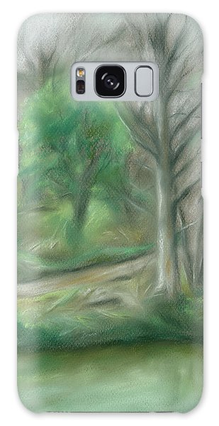 Forest Lane By A Pond Galaxy Case