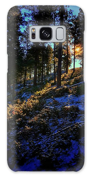 Galaxy Case featuring the photograph Forest Sunrise by Dan Miller