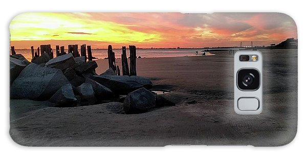 Fort Moultrie Sunset Galaxy Case