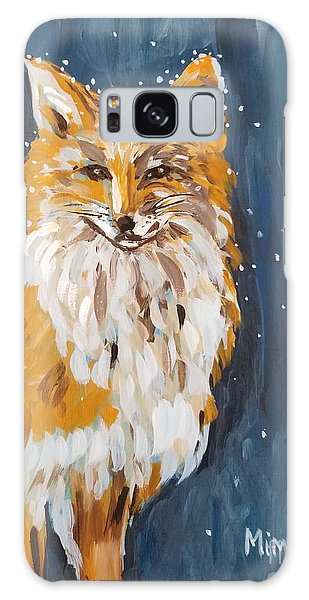 Fox Winter Night Galaxy Case