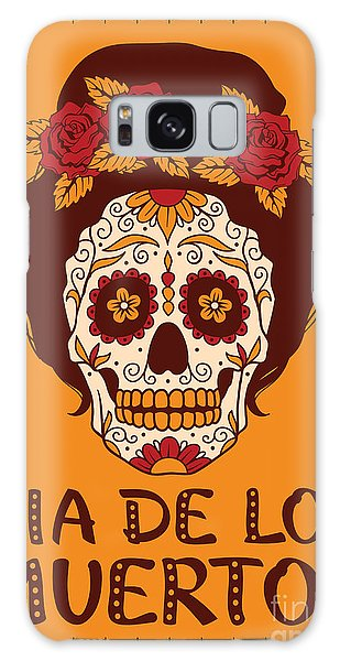 Mexican Galaxy S8 Case - Frame With Mexican Skull Girl by Rvvlada