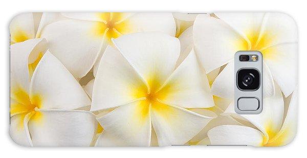 Bath Galaxy Case - Frangipani Spa Flowers Background by Piyaset