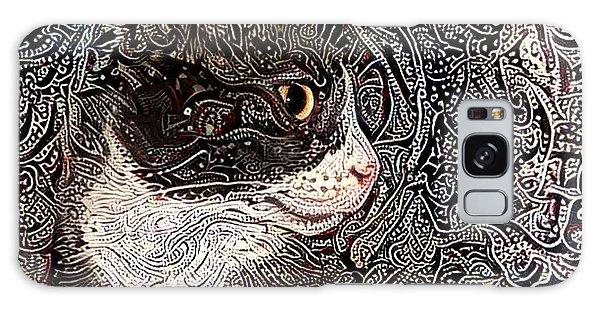 Franklyn The Tuxedo Cat Galaxy Case