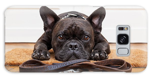 Patient Galaxy Case - French Bulldog Dog Waiting And Begging by Javier Brosch