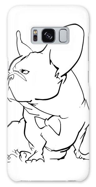 French Bulldog Gesture Sketch Galaxy Case