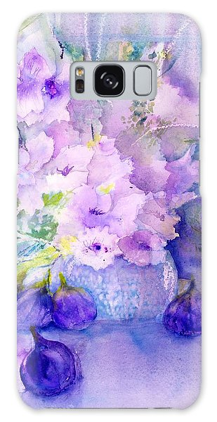 Fresh Figs And Orchids Still Life Galaxy Case