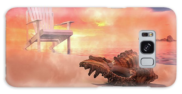 Adirondack Chair Galaxy Case - Friends By The Sea 3d Render by Betsy Knapp