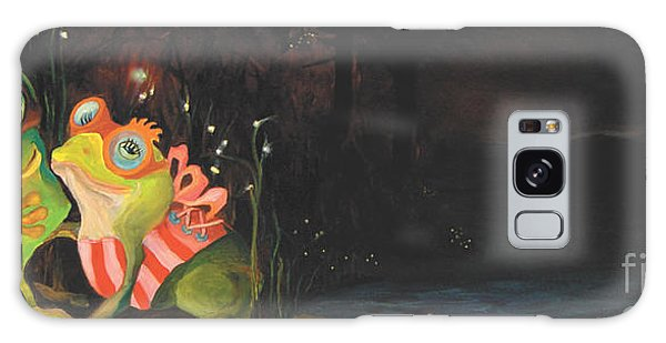 Frogs Of Silver Lake Galaxy Case