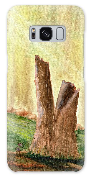 Galaxy Case featuring the painting From Ruins Comes New Life by Rich Stedman
