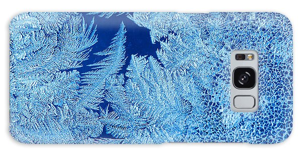 Horizontal Galaxy Case - Frost Patterns On Window Glass by Andrey Krepkih