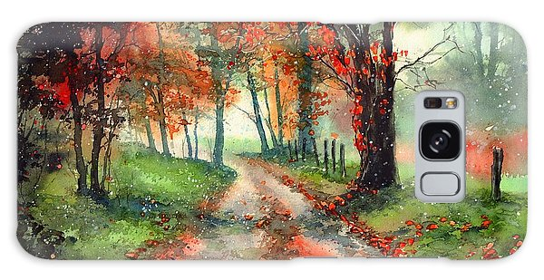 Bush Galaxy Case - Frosty Autumn Patch by Suzann Sines