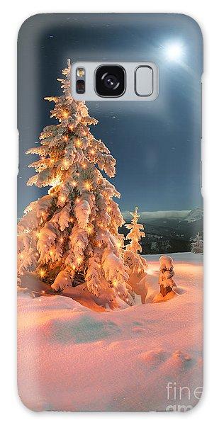 Decorative Galaxy Case - Frosty Winter Night Of Christening - by Roman Mikhailiuk