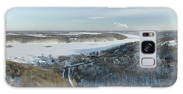 Houlton Galaxy Case - Frozen Snow Covered St. Croix River Valley Stillwater by Pictures Over Stillwater