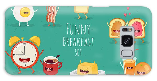 Eggs Galaxy Case - Funny Breakfast Set. Comic Characters by Serbinka