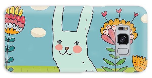 Eggs Galaxy Case - Funny Cartoon Easter Rabbit by Smilewithjul