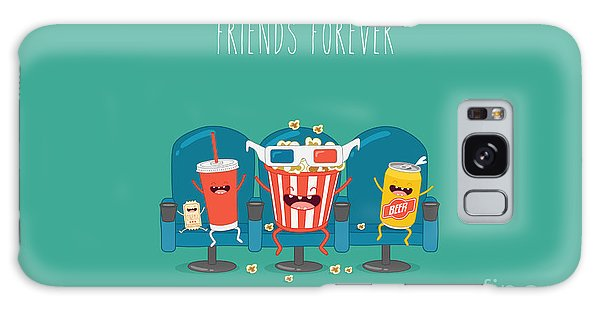 Movie Poster Galaxy Case - Funny Characters Cola, Ticket, Popcorn by Serbinka