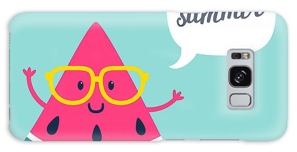 Summertime Galaxy Case - Funny Vector Background With Watermelon by Beskova Ekaterina