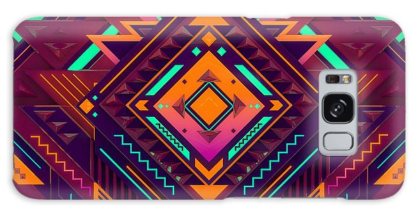Mexican Galaxy S8 Case - Futuristic Colorful Pattern. Triangles by Alx rmnwsky